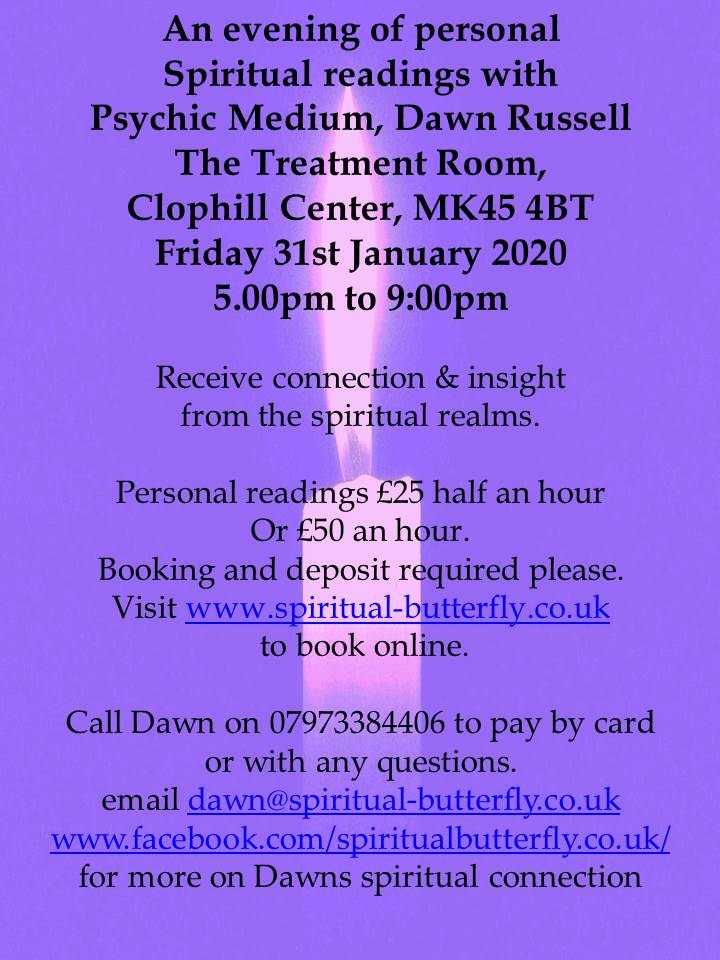 Clairvoyant & Psychic Readings 31st Jan