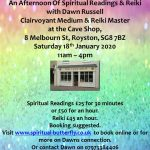 Clairvoyance at the Cave Shop 18th January 2020