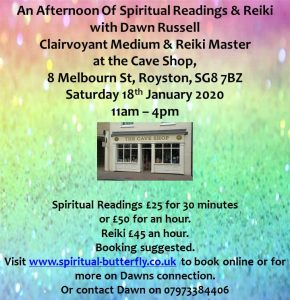 Readings & Reiki at the Cave
