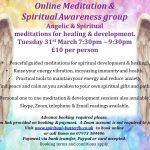 Online Meditation & Spiritual Awareness Tuesday 31.3.20 7:30pm
