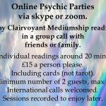 Online Psychic Parties Via Zoom & Skype UK & Overseas.