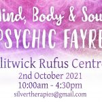 Mind Body & Spirit Fayre, 2.10.21 Rufus Center.